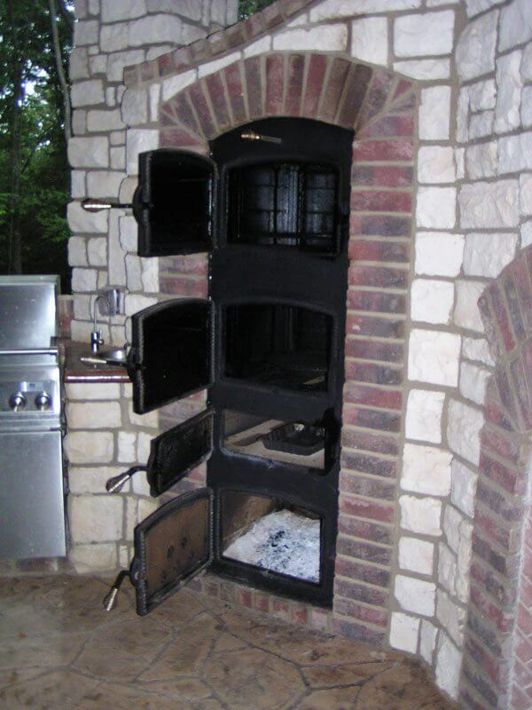 Built In Smoker Outdoor Kitchen